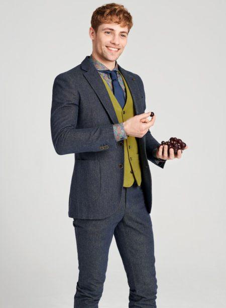 Smart Casual Jacket und farbige Weste