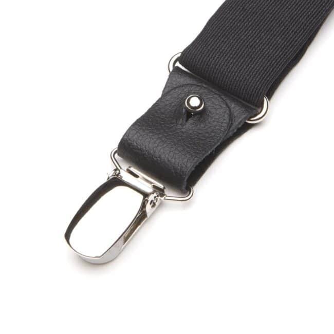 Hosenträger-Clip in Schwarz