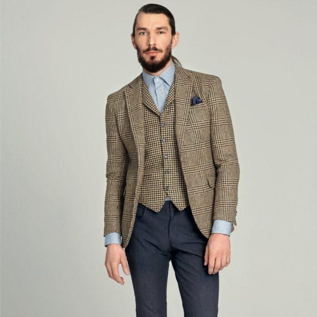 Tweedsakko und -weste im eleganten Casual-Style