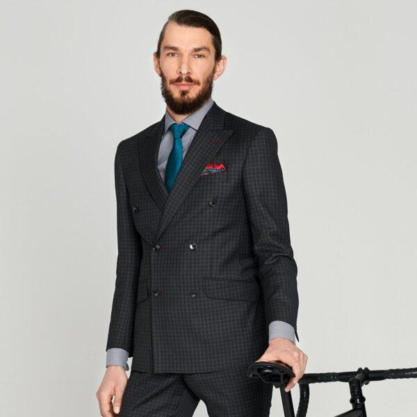 Zweireihiger Business Anzug in Anthrazit