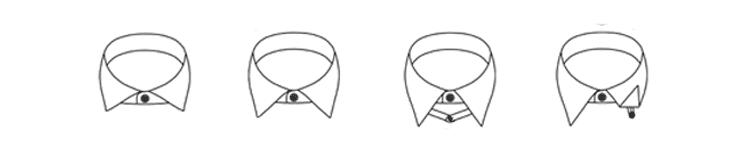 Kragenformen für Businesshemden