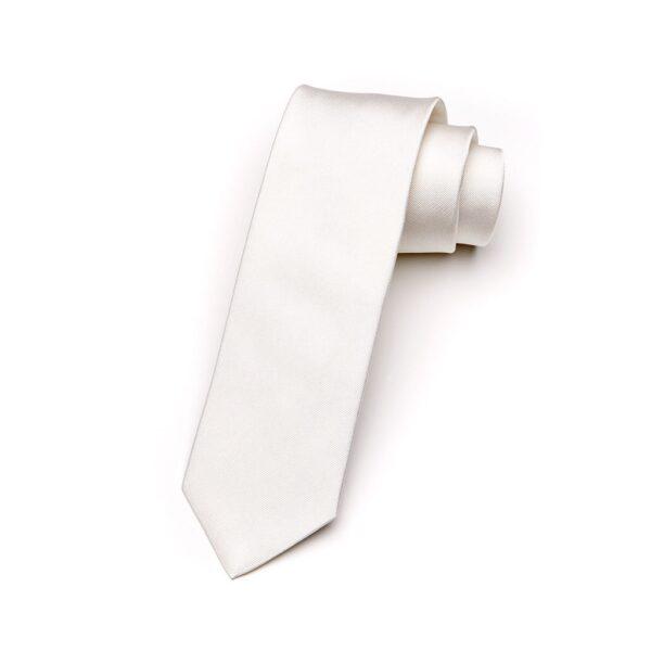 Krawatte Bianco elfenbein