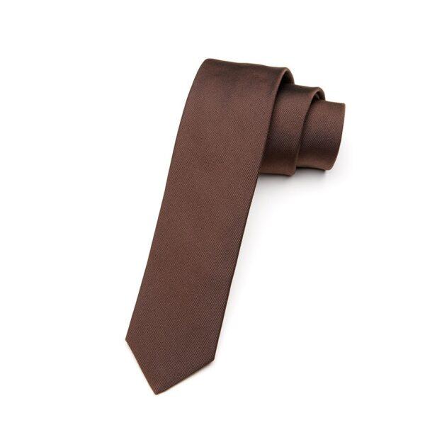 Krawatte Cacao dunkelbraun