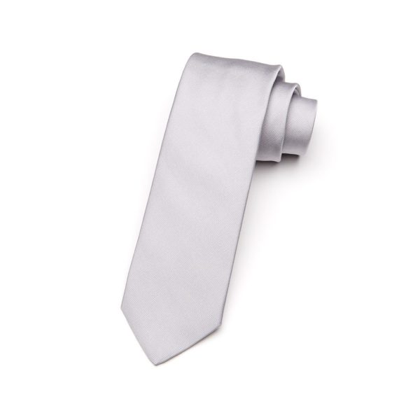Krawatte Nebbia hellgrau