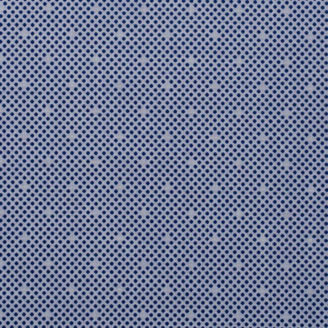 Weißblaues Maßhemd mit Punktemuster