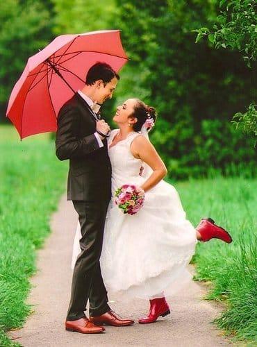 Heiraten im Regen ...
