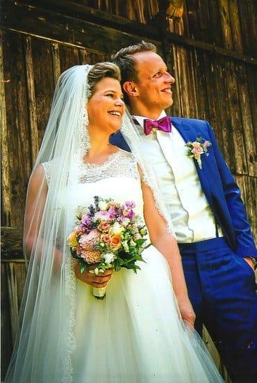 ... Strahlendes Lächeln für die Braut