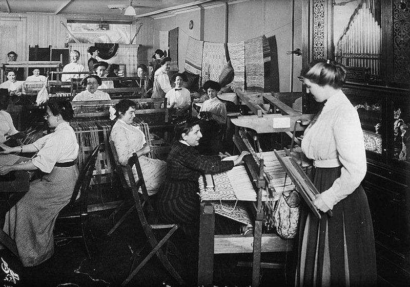 Stoffhändler und Webereien