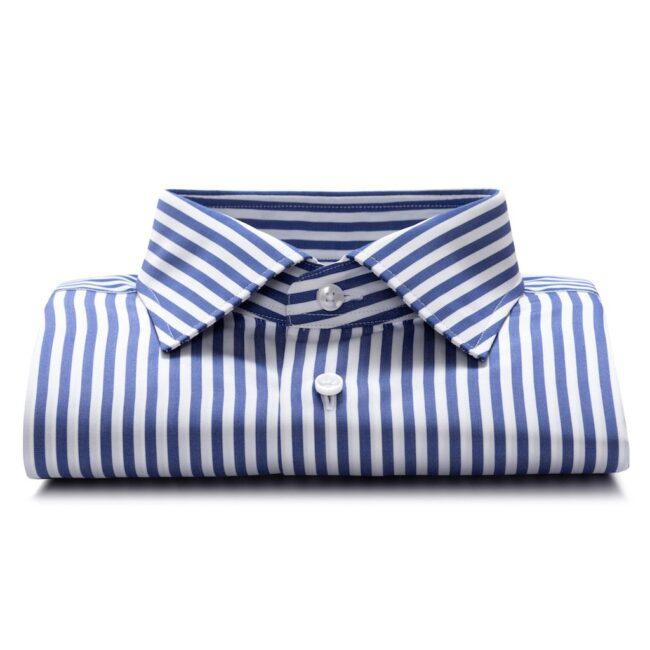 Gestreiftes Businesshemd in Blau und Weiß