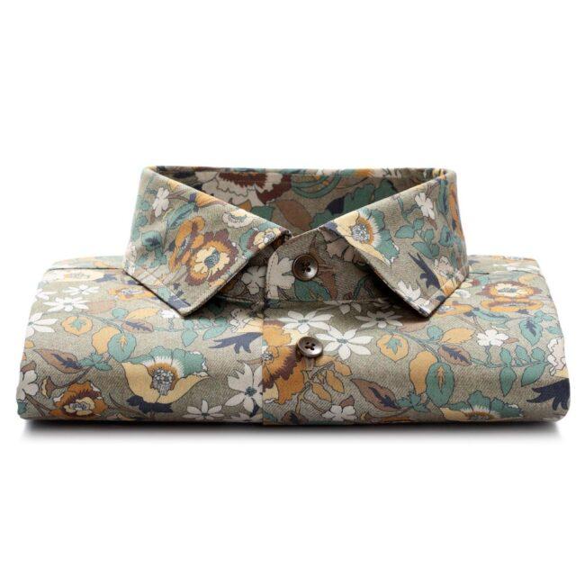 KD22 3 - Sommerhemd mit floralem Muster