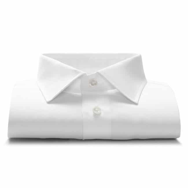 Popeline-Maßhemd in Weiß