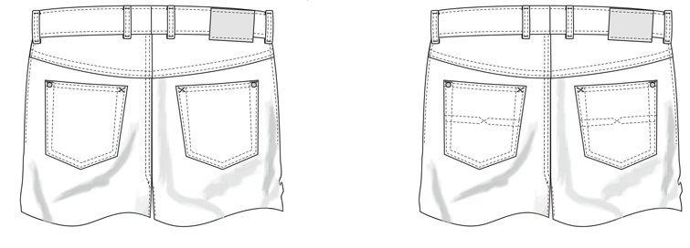 Five-Pocket-Hosen nach Maß: Taschen