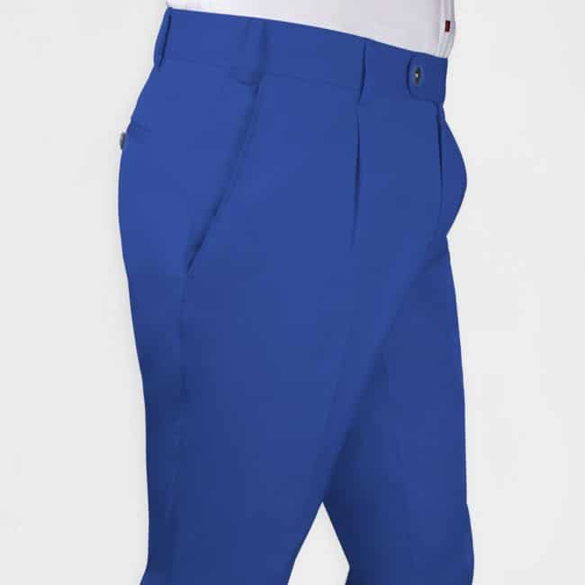 Bundfaltenhose in Royalblau