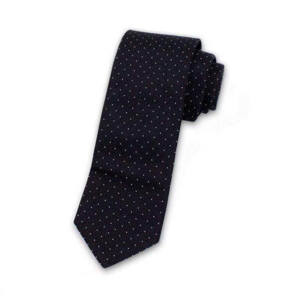 Krawatte-schwarz-weiße-punkte