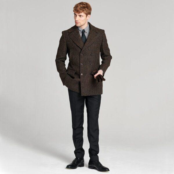Mantel Caban Tweed Zweireiher