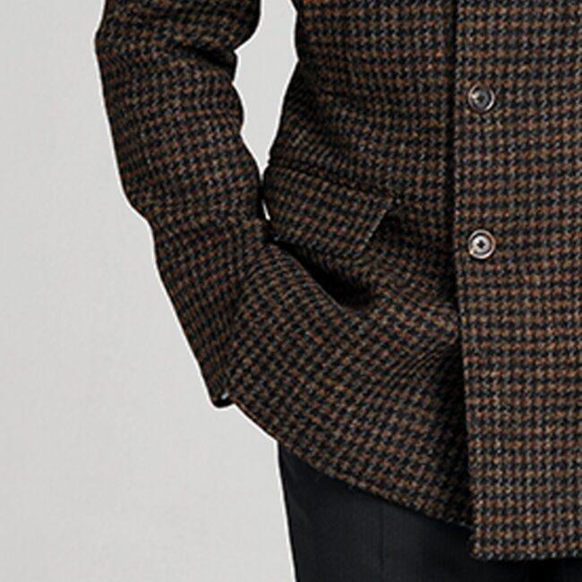 Mantel Caban Tweed Zweireiher Tasche