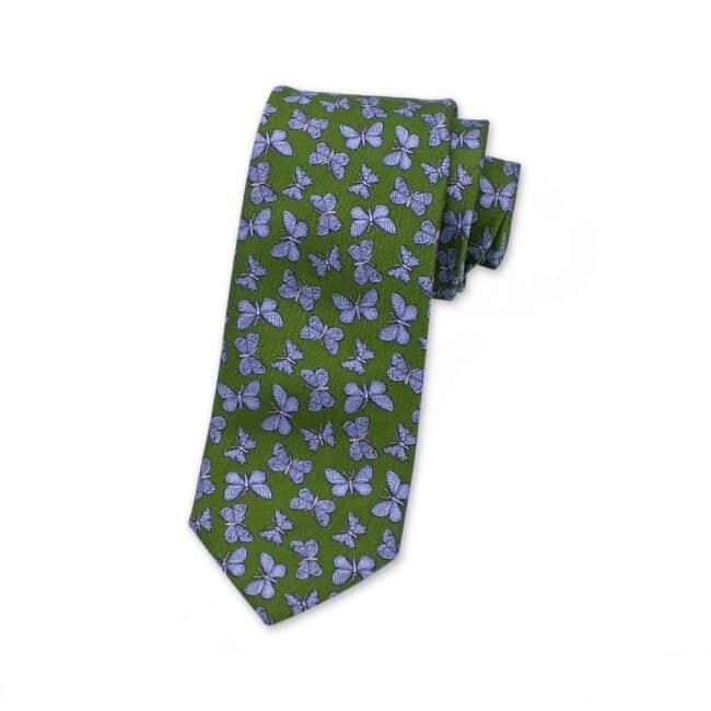 krawatte-gruen-schmetterlinge