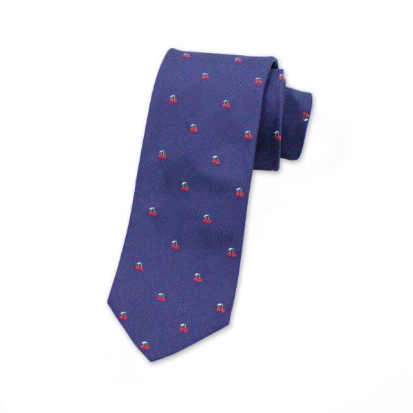 krawatte-blau-kirschen