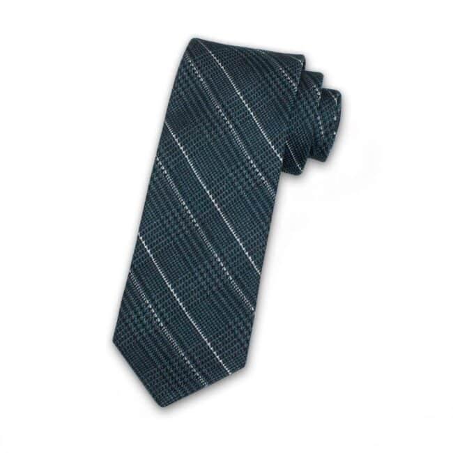 krawatte-glencheck-dunkelgruen-kariert