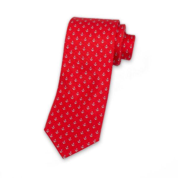 krawatte-rot-weisse-anker