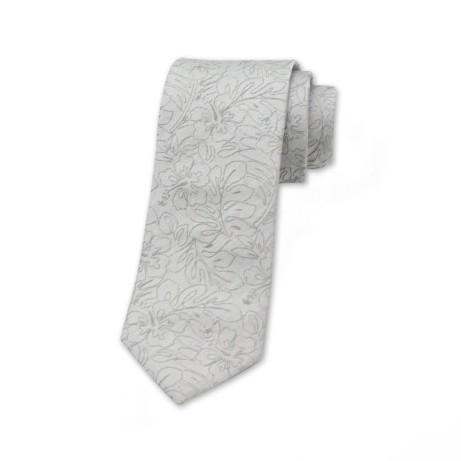 krawatte-blumen-monochrom
