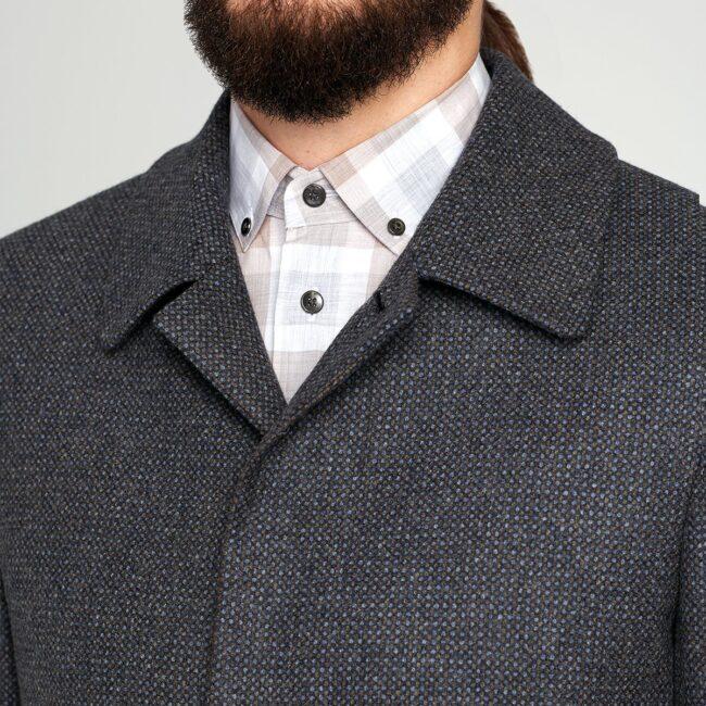 Mantel nach Maß Kurzmantel dunkelgrau Kragen