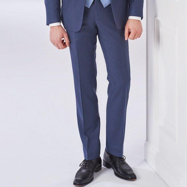 Taubenblauer Anzug mit Hochzeitsweste Hose | Blauer Anzug mit Hochzeitsweste