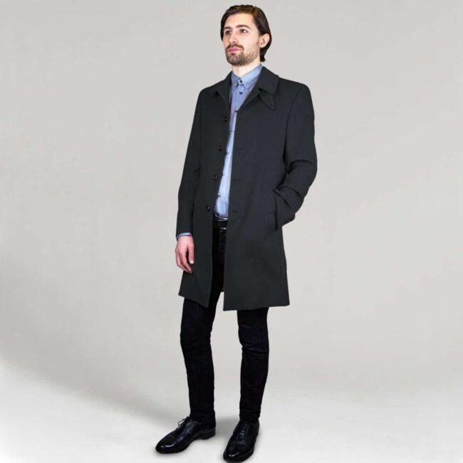 Kamelhaar Mantel schwarz