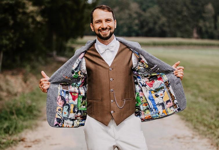 Kombi Anzug | Der perfekte Hochzeitsanzug
