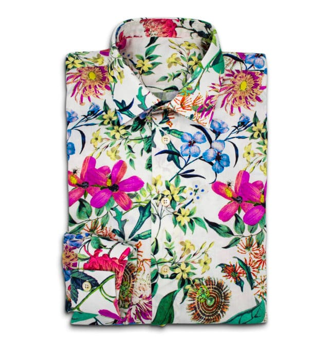 Blumen1 | Sommerhemd mit tropischem Muster