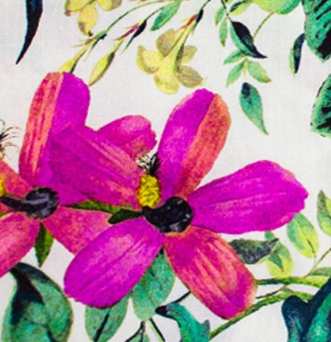 Blumen1 detail | Sommerhemd mit tropischem Muster