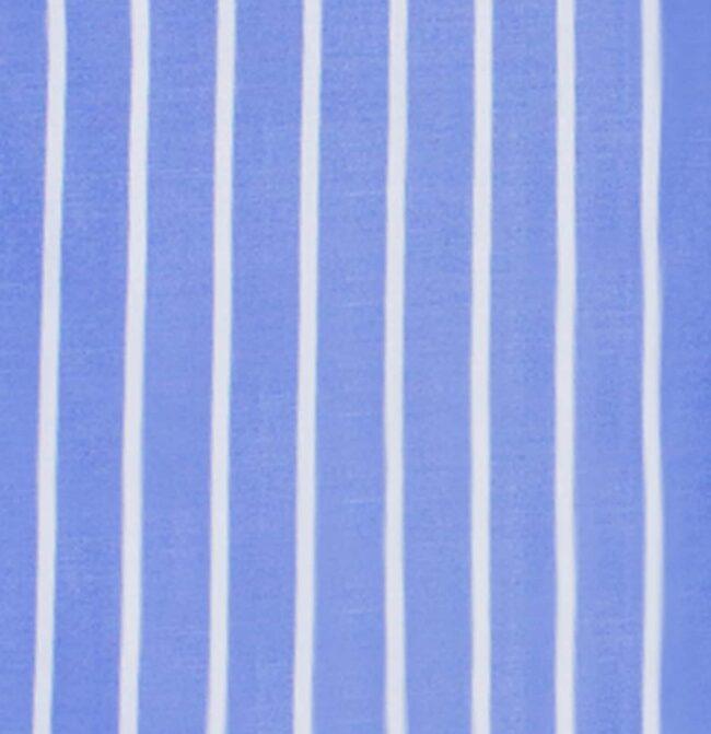 Gestreift blau detail | Blaues Businesshemd mit weißen Streifen