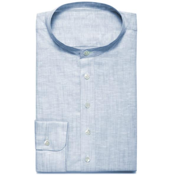 Sommerhemd hellblau Leinenhemd