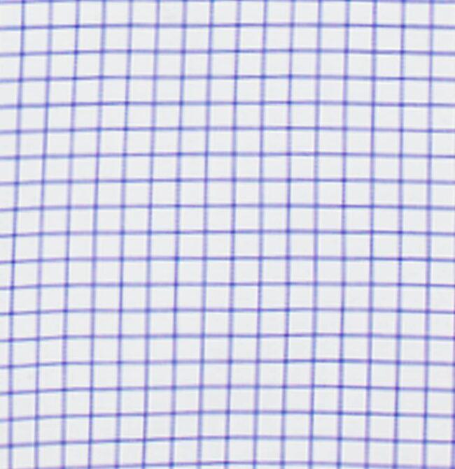 KB04 Kariert detail | Businesshemd mit blauem Gittermuster