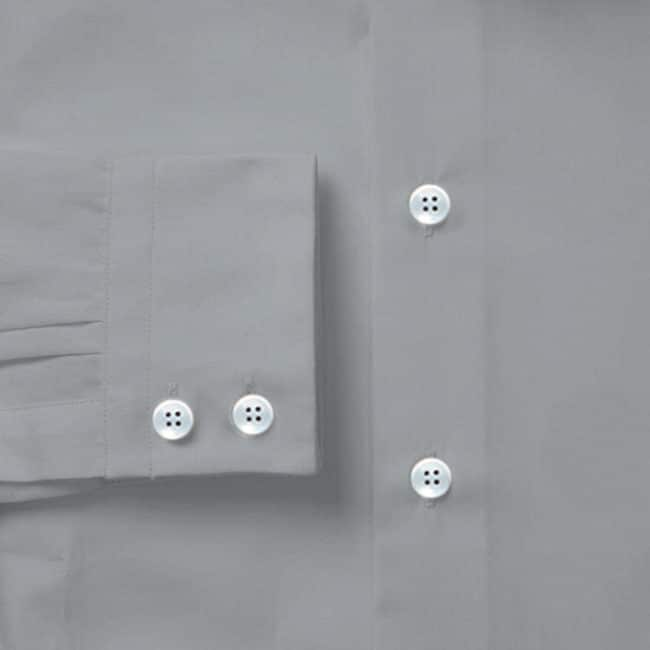 KB30 detail - Business-Maßhemd in Graublau