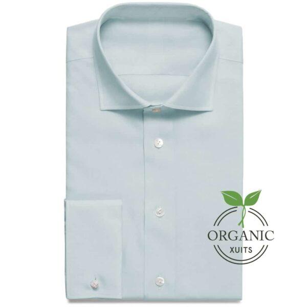 Organic Bio Baumwoll Hemd Hellblau