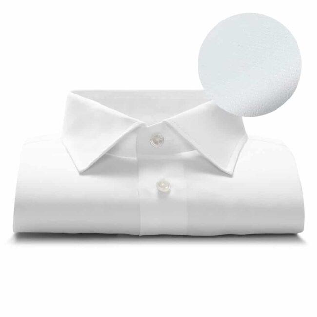 Maßhemd Weiß Struktur
