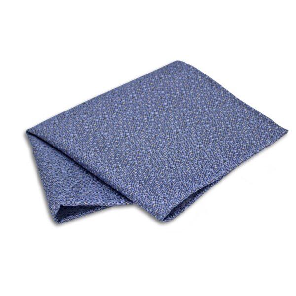 Einstecktuch blau mit silber Mosaik