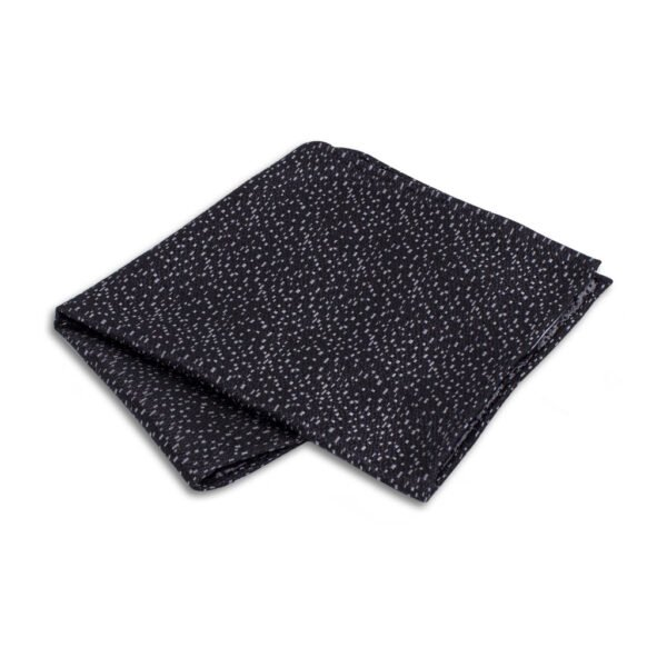 Einstecktuch schwarz mit silber Mosaik