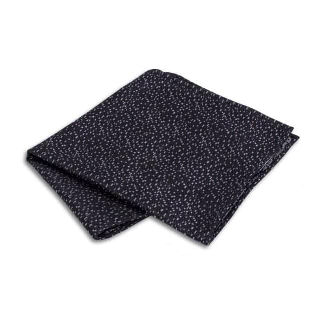 Einstecktuch schwarz | Einstecktuch schwarz mit silber Mosaik
