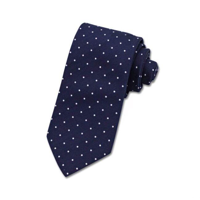 Krawatte blau polkadots   Krawatte königsblau mit weißen Polkadots
