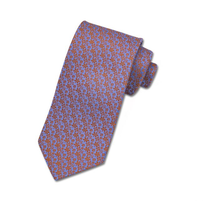 Krawatte lila blumen orange