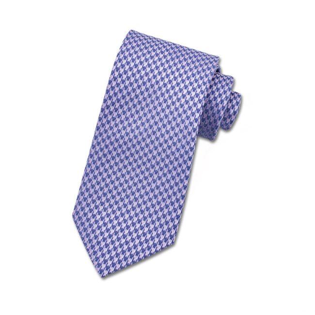 Krawatte metallic hahnentritt lila