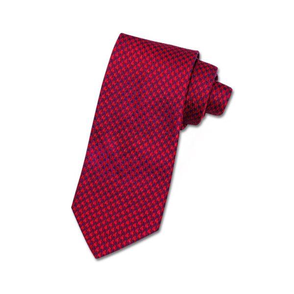 Krawatte rot hahnentritt
