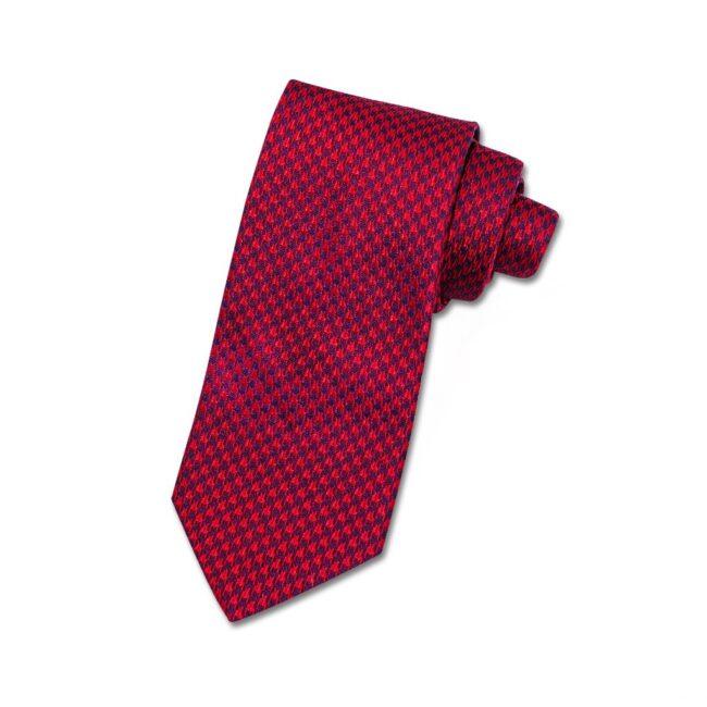 Krawatte rot hahnentritt | Krawatte mit Hahnentritt rot bordeaux