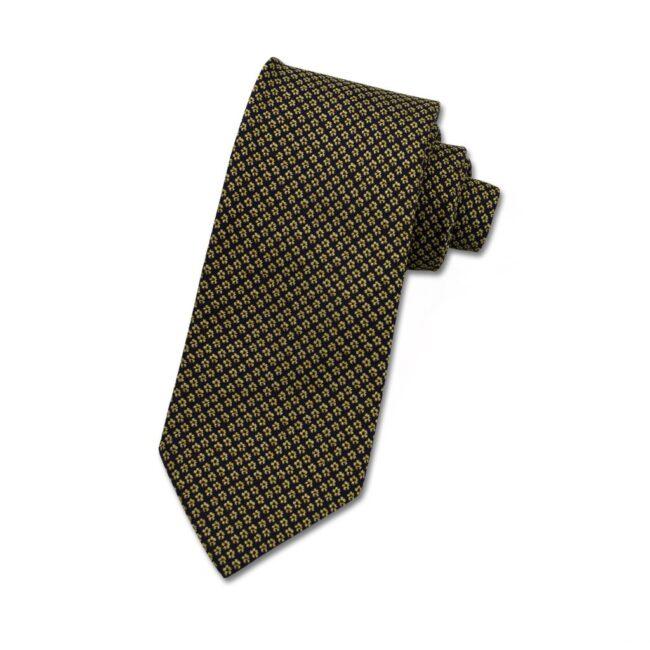 Krawatte schwarz blumen gelb | Krawatte Blüten gelb auf nachtblau