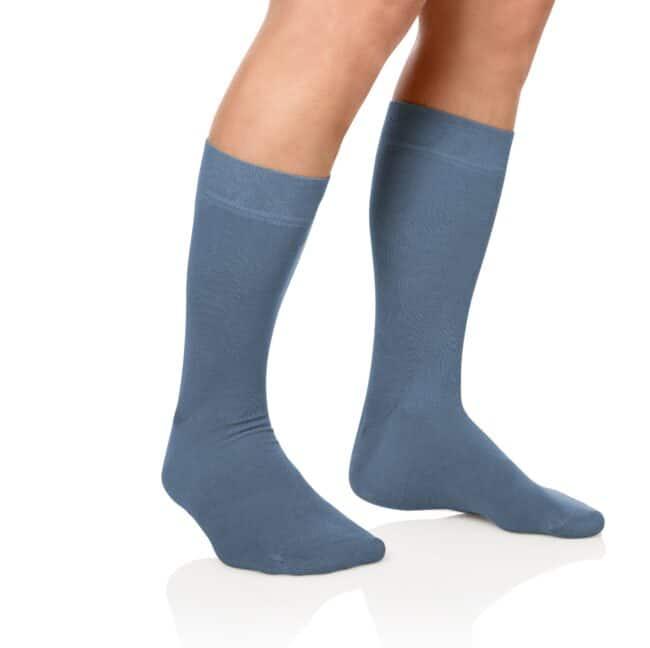 Socken Lanza Fuss Graublau - Baumwollsocken graublau