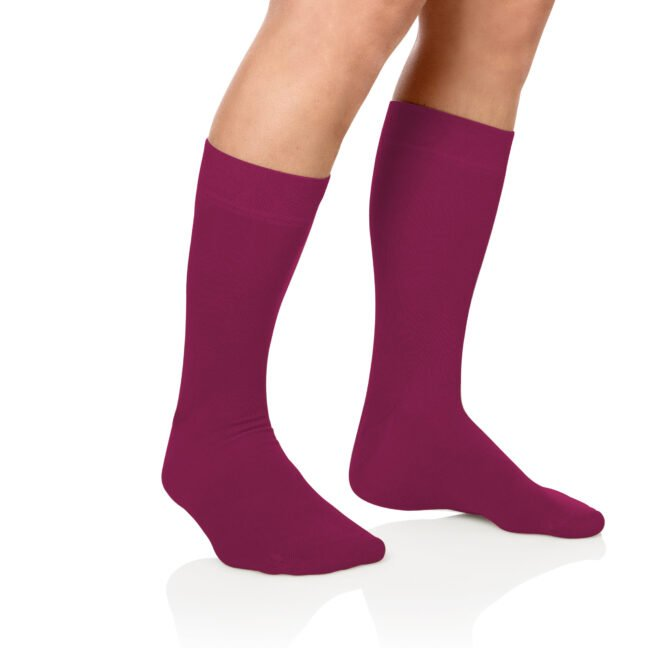 Socken Lanza Fuss Magenta | Baumwollsocken magenta