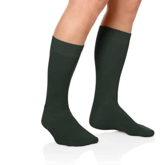 Socken Lanza Fuss Waldgruen   Baumwollsocken waldgrün