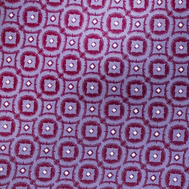 Macro lila metallic kaleidoskop | Krawatte mit Kreisen lila auf rot
